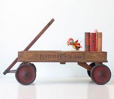 Vintage Wagon Kiddie Kart Antique Wooden Wagon H. C. by bellalulu