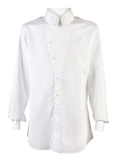 Amazing Alexander McQueen shirt with epaulets and an asymmetrical front closure. I want to work on making versatile pieces with nice details.