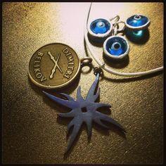 #VAMPIREACADEMY Treats! Evil Eye, #DimitriBelikov Pendant, + Zvezda Mark Necklace from CADSAWAN Jewelry || shop.cadsawan.com