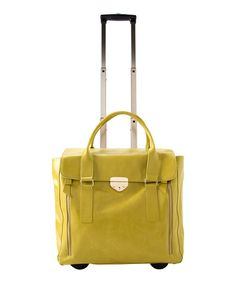 For runway-worthy style, roll around with this travel-savvy bag. The versatile design offers plenty of room for storage, while an extendable handle offers multiple carrying options. Glide through a crowded airport with ease using the base equipped with two sturdy wheels.22'' W x 18'' H x 7'' D6'' handle dropPolyurethane...