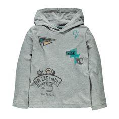 Knit Hooded T-shirt Grey / T-shirt à capuchon en jersey Souris Mini