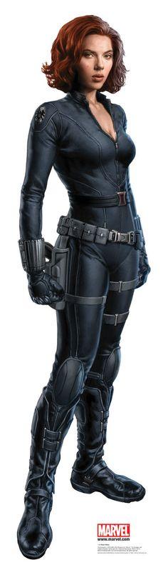 Scarlett Johansson as skinny Natasha Romanoff a.k.a. Black Widow