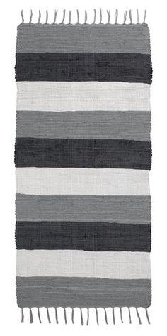 Räsymatto KRIMLIND 65x140 musta/harmaa   JYSK Helsingborg, Budapest, Towel, Room Decor, Rugs, Ideas, Lilac, Farmhouse Rugs, Carpets