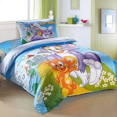 Brand New: Animated, Tom & Jerry Twin Bed Spread King / Queen Size, Full-Sheet Set. Bedding @ Immortalmastermind.com ($159.95) @ http://immortalmastermind.mybigcommerce.com/brand-new-animated-tom-jerry-twin-bed-spread-king-queen-size-full-sheet-set-2/