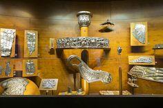 """Gli argenti del """"Tesoro di Marengo"""", Museo di Antichità di Torino."""