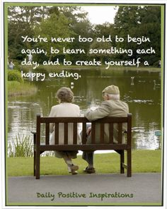 It's never too late.....