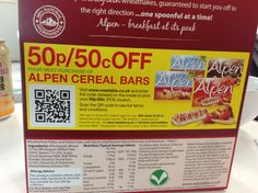 What does that giant QR code do? Takes you to their Terms & Conditions of course. Cereal Bars, Qr Codes, Bar Lighting, Coding, Granola Bars, Programming