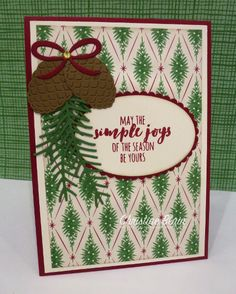 """HAPPY HEART CARDS: STAMPIN' UP! """"THIS CHRISTMAS"""" CARD 3"""