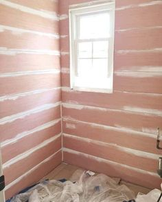 Beautiful Shiplap Walls from Cheap Plywood-Plywood is the cheap and easy way to get that shiplap look. This tutorial shows just how easy it is for you to achieve the coveted look of shiplap walls! Small Basement Remodel, Basement Remodeling, Remodeling Ideas, Dark Basement, Basement Plans, Basement Storage, Basement Stairs, Basement Ideas, Cheap Plywood