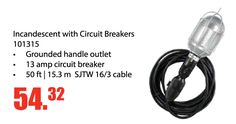 You need this light for your garage! Get an Incandescent with Circuit Breakers Only $54.32 EA. This special runs until December 31, 2016. It Features: • Grounded handle outlet • 13 amp circuit breaker • 50 ft | 15.3 m SJTW 16/3 cable http://www.aadiscountauto.ca/special/809/incandescent-with-circuit-breakers.html #AADiscount #AASpecial #Incandescent #CircuitBreakers #Garage #Light #GiftIdea