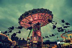amusement parks at night<3