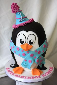 Chilly Penguin Cake by CakeSuite, Westport CT Cupcakes, Cupcake Cookies, Penguin Cakes, Penguin Party, Fete Emma, Fondant, 2 Birthday Cake, Animal Cakes, Angel Cake