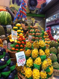 San Paolo, Brazil, Central food market full of fruit that I had never seen in my life...!