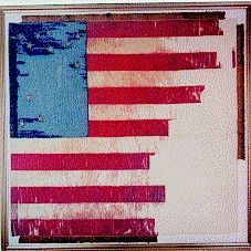 Battle flag of the 20th Maine used at Little Round Top, Gettysburg, 1863