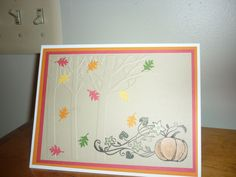 2016 Thanksgiving card embossed and stamped