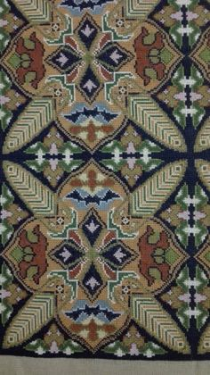 Cross Stitch Designs, Cross Stitch Patterns, Palestinian Embroidery, Punch Needle Patterns, Elves, Cross Stitch Embroidery, Bohemian Rug, Carpet, Rugs