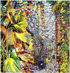 Valle de Mai Praslin by Michael Adams Seychelles, Magic Realism, Island Nations, Garden Painting, Travel Essentials, Graphic Design, Landscape, Creative, Illustration