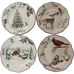 better homes and gardens 12 piece dinner plate set holiday assorted christmas tabletop