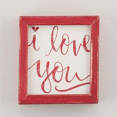 Found it at Joss & Main - 'I Love You' by Glory Haus Framed Textual Art