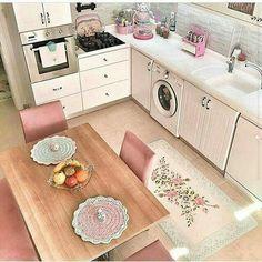 35 If You Read Nothing Else Today, Read This Report On Shabby Chic Dining Room 80 House, Home, Kitchen Themes, Pink Kitchen, Home Deco, Interior Design Living Room, Chic Dining Room, Shabby Chic Dining, Shabby Chic Dining Room