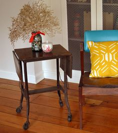 Vintage Industrial Cart / Side Table / Nightstand, via Etsy.