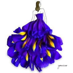 Ilustraciones de moda con flores