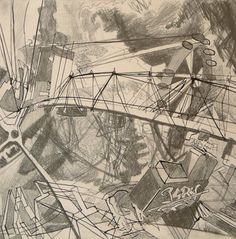 Savoy Drawing 3 - graphite on paper, 40 x 40 cm, 2007