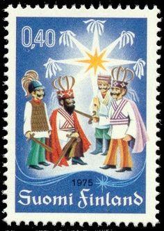 Tiernapojat: los reyes magos finlandeses - Big In Finland Centenario, Finland, Retro Fashion, Fine Art America, Mint, Singer, Stamps, Christmas Ornaments, Wall Art