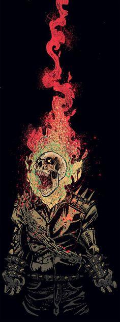 ✧ Marvel Comics : Ghost Rider on Behance Comic Book Characters, Comic Character, Comic Books Art, Comic Art, Marvel Art, Marvel Dc Comics, Marvel Heroes, Ghost Marvel, Ms Marvel