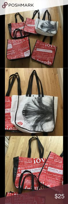 LULULEMON reusable shopping bag tote large FREE 14x16x6. Excellent condition, just used to get from store to car. Must bundle. Will ship free with any purchase! lululemon athletica Bags Totes