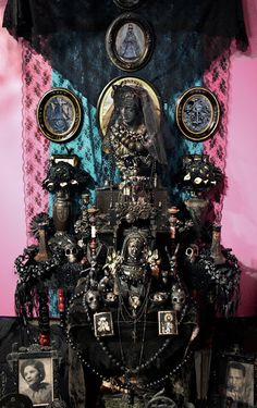 Laurie Beth Zuckerman's Madre Dolorosa mourning altar at the Longmont Museum and Cultural Center's 12th Annual Día de los Muertos Exhibition