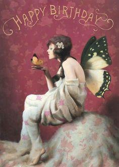 Happy Birthday Wiches : QUOTATION - Image : Birthday Quotes - Description Fairy Birthday Cards by Stephen Mackey Fairies Set of 3 Gypsy Happy Birthday Fairy, Happy Birthday Artist, Happy Birthday Auntie, Happy Birthday Vintage, Sister Birthday, Happy Birthday Pictures, Happy Birthday Quotes, Happy Birthday Greetings, Birthday Memes
