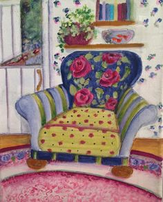 Painting of chair on canvas part of series by by Jpenningtonart