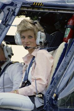 The Wales Family at Highgrove.  DIANA TAKES A SPIN AROUND HER COUNTRY HOME, HIGHGROVE, IN THE ROYAL HELICOPTER.