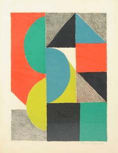 "SONIA DELAUNAY (French 1885-1979) AN ETCHING, ""Venise,"" : Lot 104"
