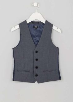 Boys grey suit waistcoat that is perfect for summer weddings and christenings. Matalan, Boys Suits, Little People, Kids Outfits, Vest, Summer Weddings, Grey, Jackets, Clothes