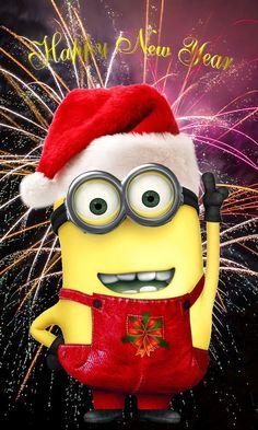 10 Happy New Year Minion Quotes - menions , Happy New Year Minions, Happy New Year Funny, Happy New Year Wishes, Happy New Year 2019, Happy Year, Xmas Pictures, Minion Pictures, Funny Pictures, Happy Pictures