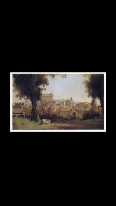 Jean-Baptiste Camille Corot - Vue des Jardins Farnèse à Rome, 1826 - Huile sur toile - 24 x 40 cm - Washington, The Phillips Collection