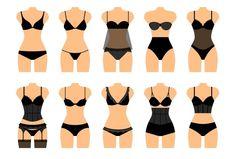 Women Shapewear Or Female Corrective Underwear Vector Illustration Lingerie Design, Designer Lingerie, Lingerie Sets, Lingerie Cookies, Modelista, Fashion Vocabulary, Women's Shapewear, Fashion Design Sketches, Underwear