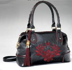 Floral Whipstitch Handbag from Monroe and Main.
