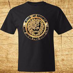 New JAPAN PRO WRESTLING Logo Men's Black T-Shirt Size S to 3XL 100% Cotton