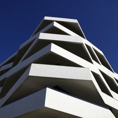 Located in Porto, Portugal, this apartment building was named Living Foz. 40 apartments are situated on 7 floors