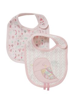 Clothing at Tesco   F&F 2 Pack of Little Petal Bibs > accessories > Newborn > Baby