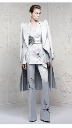 Alexander McQueen Pre-Spring/Summer 2013 - outfit with coat
