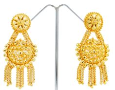 Traditional Indian 18K Gold Plated Ethnic Designer Earrings Set Women Jewelry.This is an artificial pair of earrings ..this is img