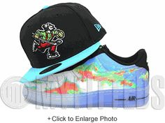 Vancouver Canucks Johnny Canuck Weatherman Foamposite Matching New Era Fitted Cap