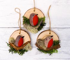 Pebble Art Pebble Art Robin Pebble Art Pebble Birds Pebble Picture rustikales Hone Decor Gedenkgeschenk DIY and Crafts 2019 Wood Ornaments, Diy Christmas Ornaments, Diy And Crafts, Christmas Crafts, Crafts For Kids, Christmas Decorations, Family Ornament, Handmade Ornaments, Stone Crafts