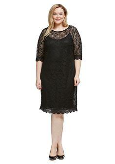 Light, lace Little Black Dress 'LBD' Sleek summer style for hot nights. $89.50