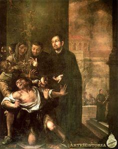 Valdés Leal / San Ignacio exorcizando a un poseso De la serie creada para la Casa Profesa Compañía de Jesús en Sevilla (actualmente - MBA de Sevilla)