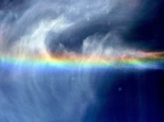 Cloud in a shape of Bird with rainbow